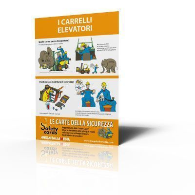 Poster Safety Cards - I carrelli elevatori