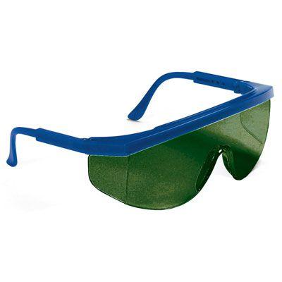 Occhiali protettivi monolente verde