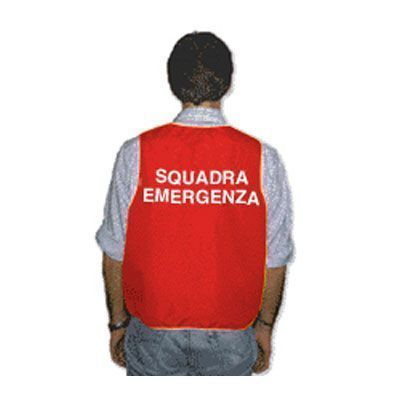 Gilet per squadra di emergenza - Colore Rosso
