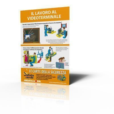Poster Safety Cards - Il lavoro al videoterminale