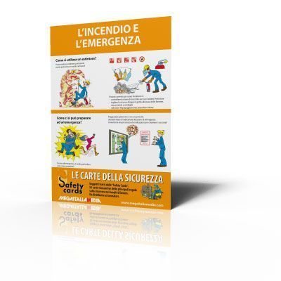 Poster Safety Cards - L'incendio e l'emergenza