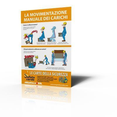 Poster Safety Cards - La movimentazione manuale dei carichi