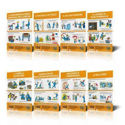 Poster Safety Cards - Kit da 8 Poster