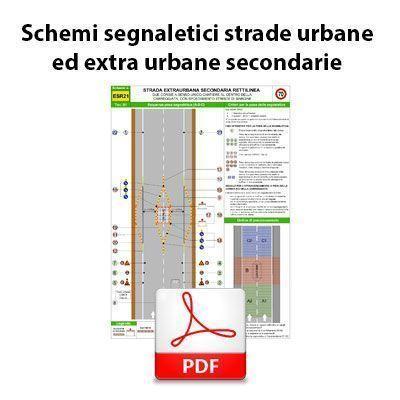 Immagine Schemi segnaletici per strade urbane ed extra urbane secondarie - PDF