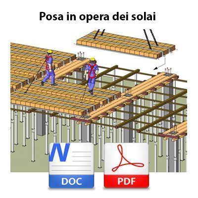 Posa in opera dei solai: procedure di sicurezza condivise - DOC + PDF