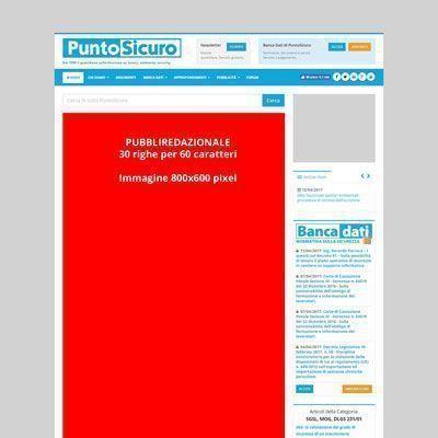 Pubbliredazionale redatto da PuntoSicuro