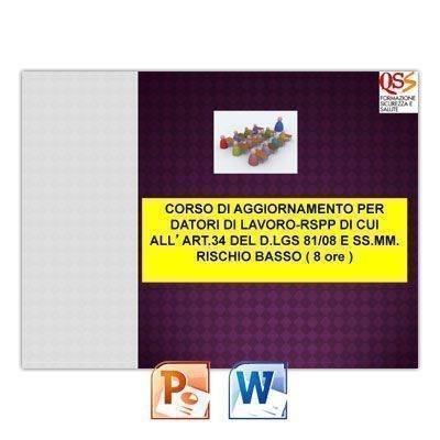 Corso di Aggiornamento per Datore di Lavoro RSPP a Rischio Basso