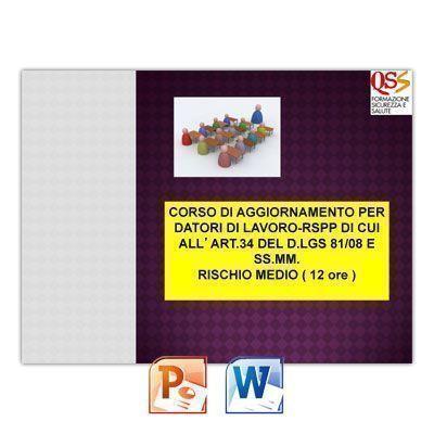 Corso di Aggiornamento per Datore di Lavoro RSPP a Rischio Medio