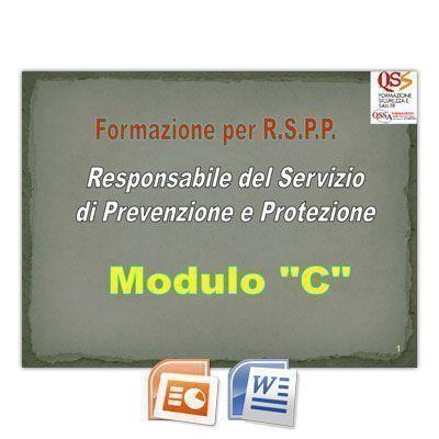 Corso di formazione per RSPP - Modulo C