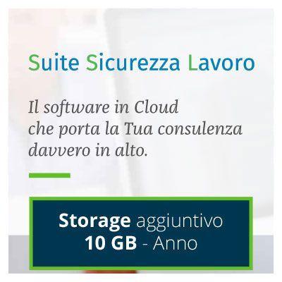 Suite Sicurezza Lavoro: STORAGE AGGIUNTIVO 10 GB - 1 ANNO