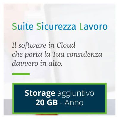 Suite Sicurezza Lavoro: STORAGE AGGIUNTIVO 20 GB - 1 ANNO