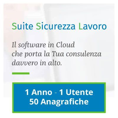 Immagine Suite Sicurezza Lavoro: 1 ANNO - 1 UTENTE - 50 ANAGRAFICHE