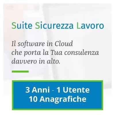 Suite Sicurezza Lavoro: 3 ANNI - 1 UTENTE - 10 ANAGRAFICHE