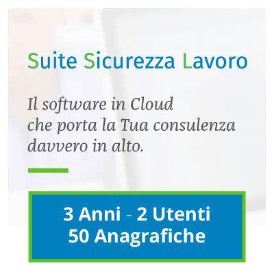 Suite Sicurezza Lavoro: 3 ANNI - 2 UTENTI - 50 ANAGRAFICHE