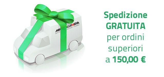 Spedizione GRATIS sopra i 150 €